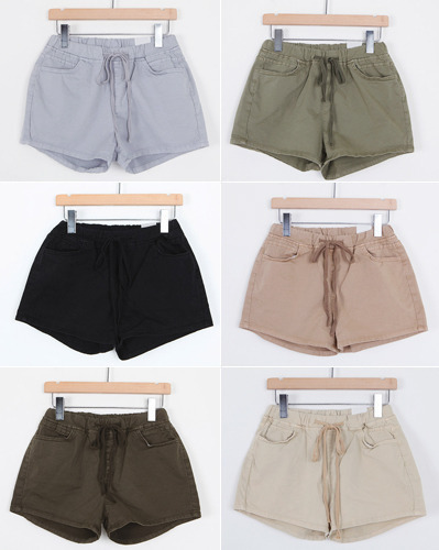 Cotton banding color short