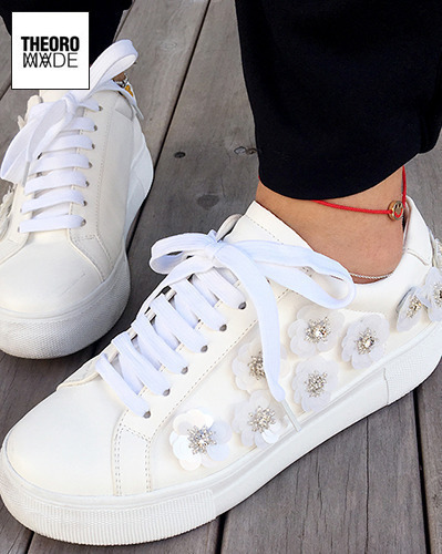 flower sneakers=SHOES