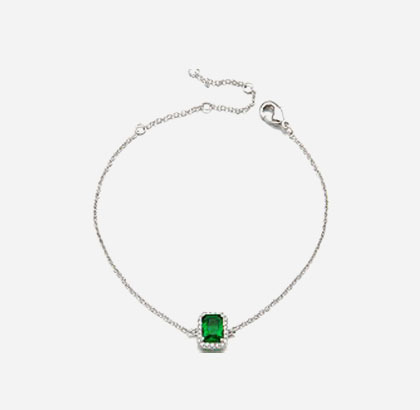 Pinknoodle™ Square Cubic Bracelet (Green)