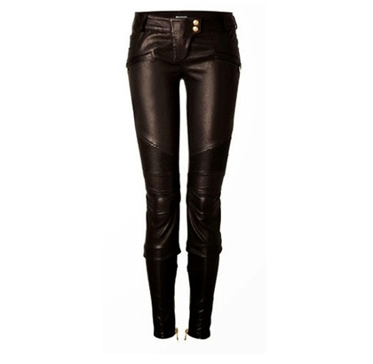 BALMAN leather pants