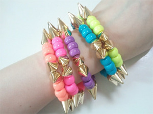They's Neon Stud Ball Bracelet