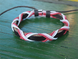 Pinknoodle Leather Unisex Bracelet #5 (남자도착용가능)