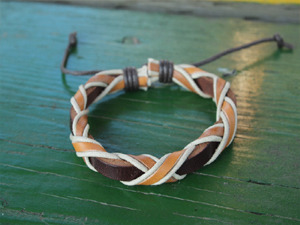 Pinknoodle Leather Unisex Bracelet #7 (남자도착용가능)